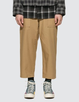 Sacai Fabric Combo Cropped Pants