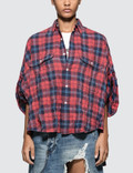 R13 Oversized Rolled-sleeve Plaid Shirt Picutre