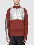 Oakley by Samuel Ross Half Zip Pullover with Metallic Patches Picture