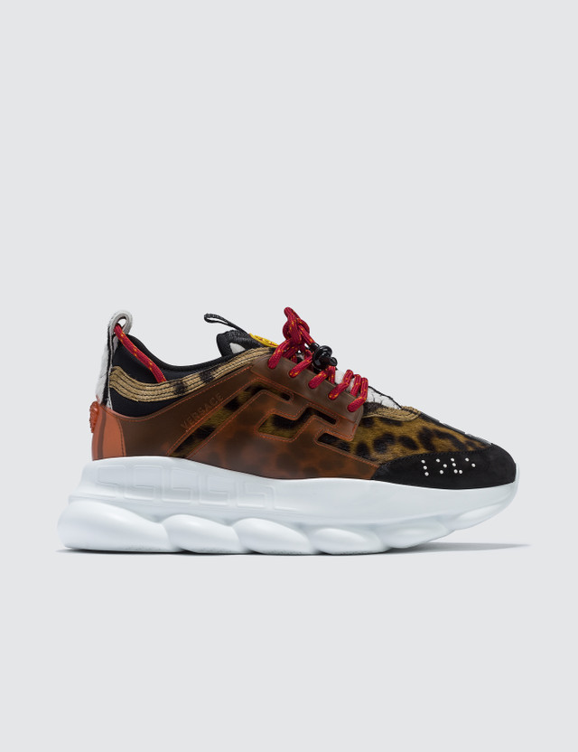 Versace Leopard Chain Reaction Sneakers