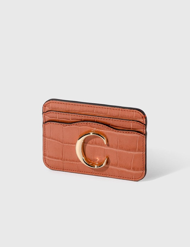 Chloé Chloé C Croco Embossed Card Holder
