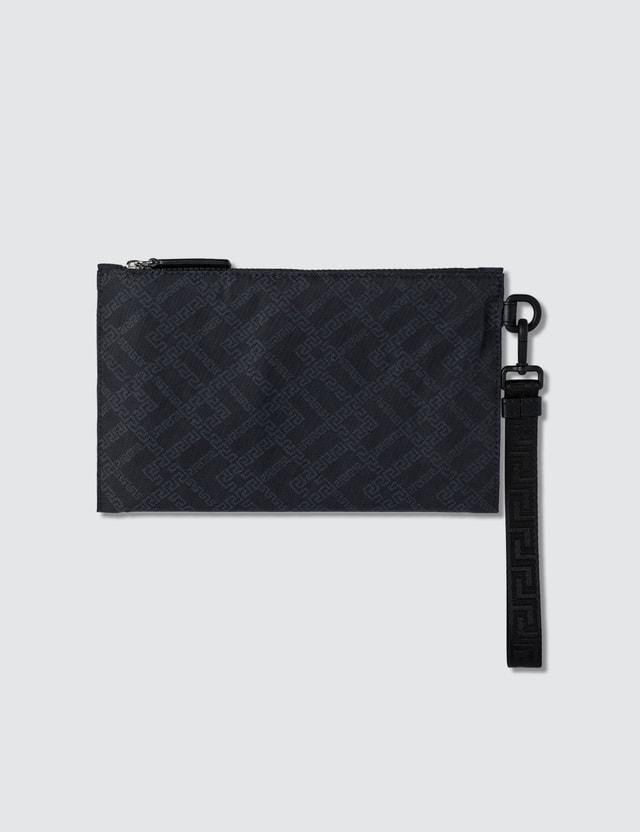 Versace Greek Key Logo Pouch