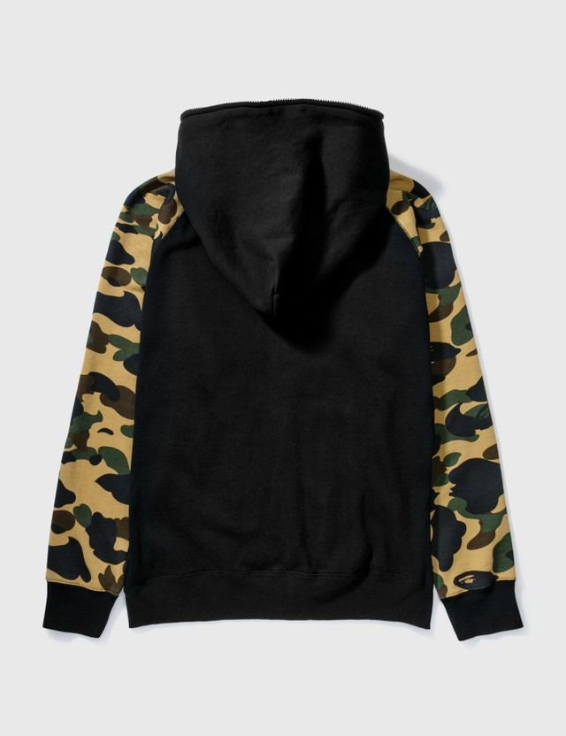BAPE Bape Cotton Hoodie With Camo Sleeves Black Archives