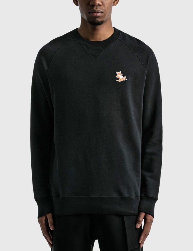 Maison Kitsune Chillax Fox Patch Classic Sweatshirt Black Men