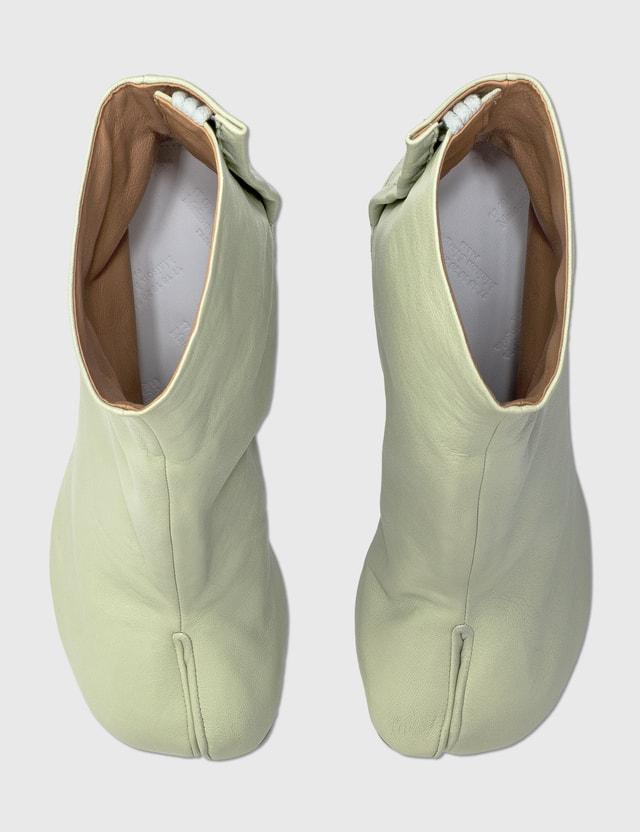 Maison Margiela Tabi Vintage Leather Boots Pistachio Green Women