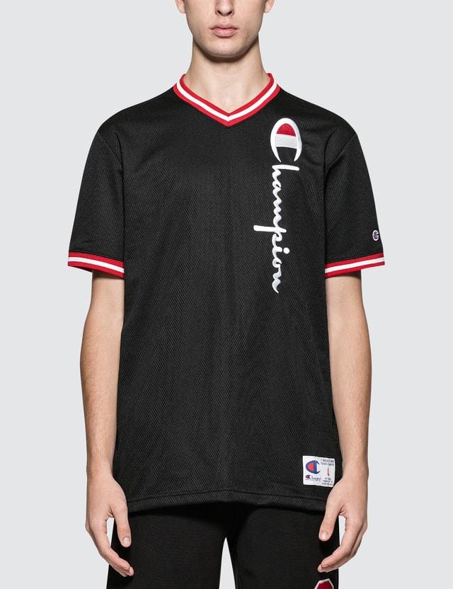 Champion Reverse Weave Oversized Script Logo V-neck S/S T-Shirt