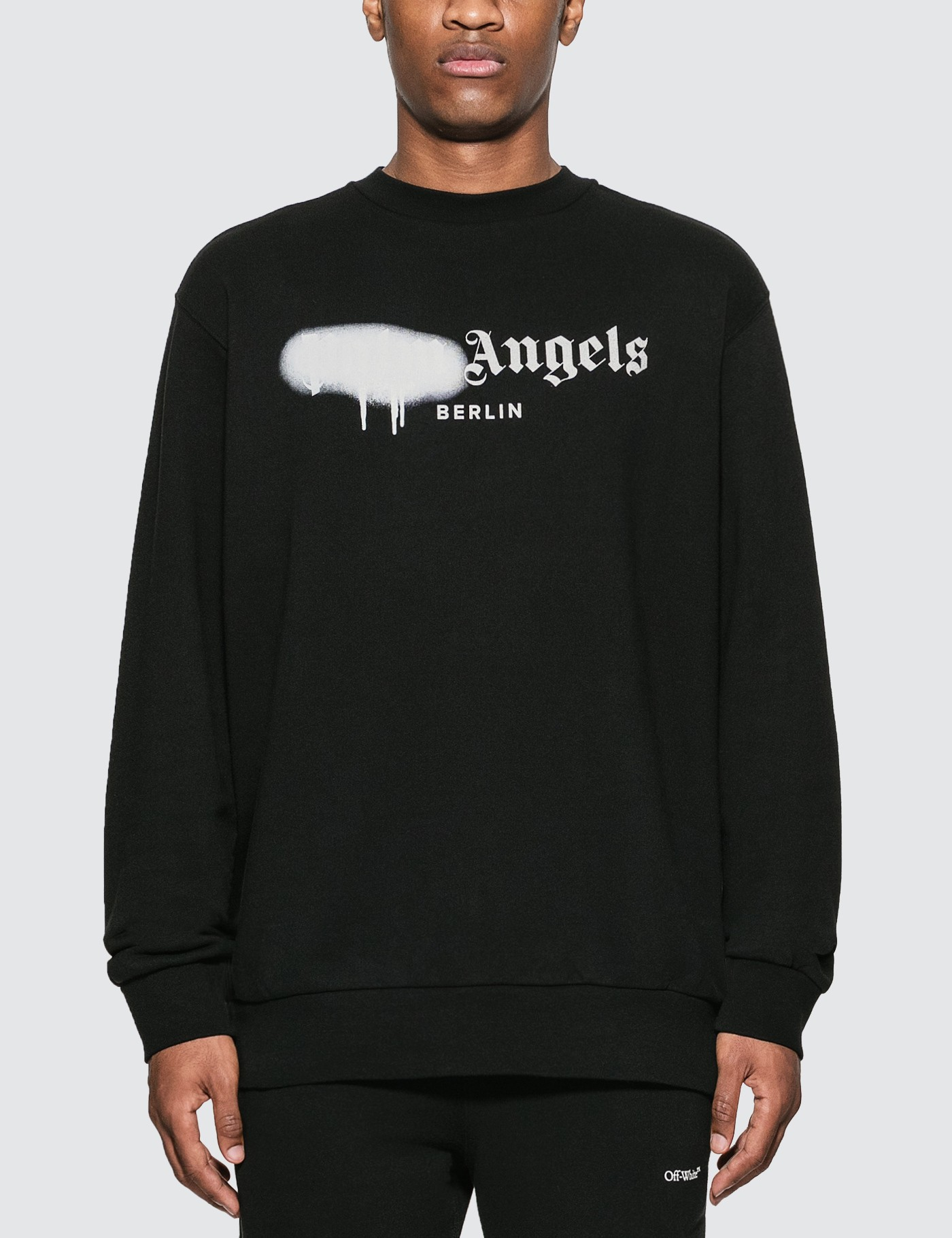 PALM ANGELS BERLIN SPRAYED LOGO SWEATSHIRT