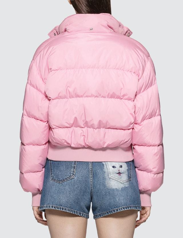 MSGM Basic Short Down Jacket Pink Women