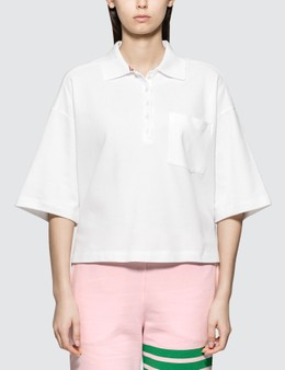 Thom Browne Oversized Ss Pocket Polo In Classic Pique
