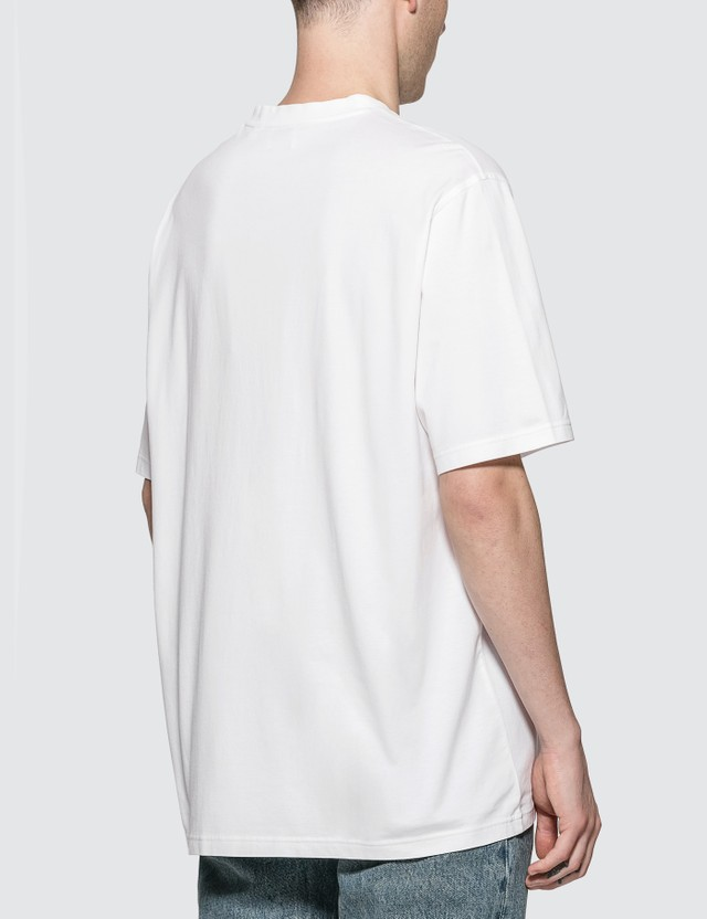 Burberry Contrast Logo Graphic Cotton T-shirt White Men