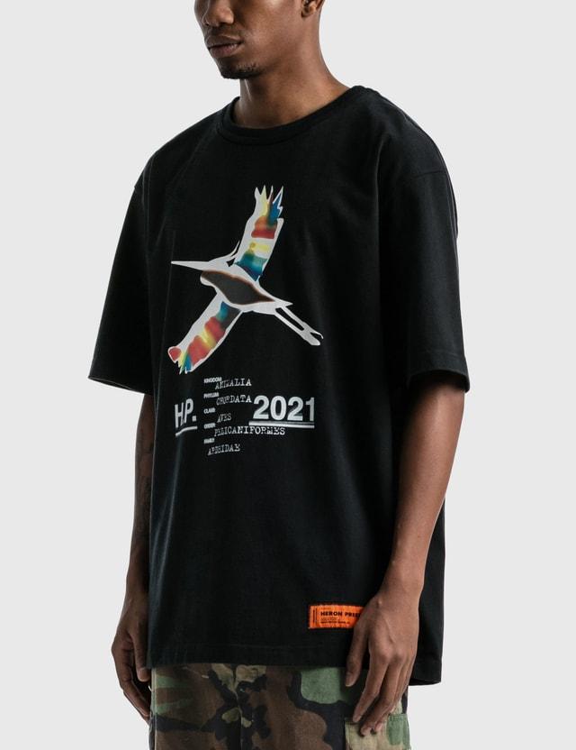 Heron Preston Rainbow Heron Print T-shirt Black White Men