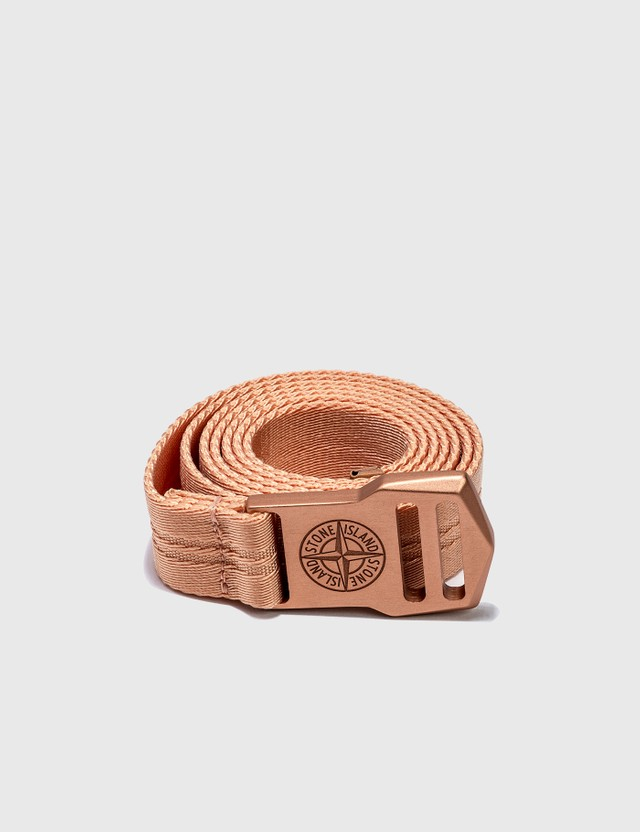 Stone Island Logo Belt Orange Men