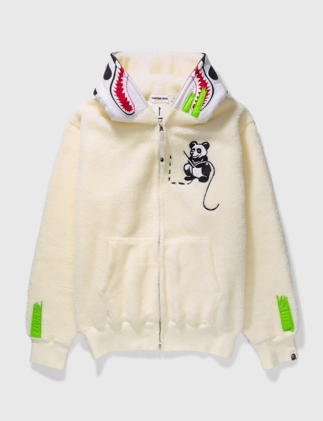 BAPE Bape Panda Fleece Zip Up White Archives