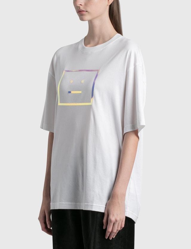 Acne Studios Exford Metallic Face Patch T-shirt Optic White Women