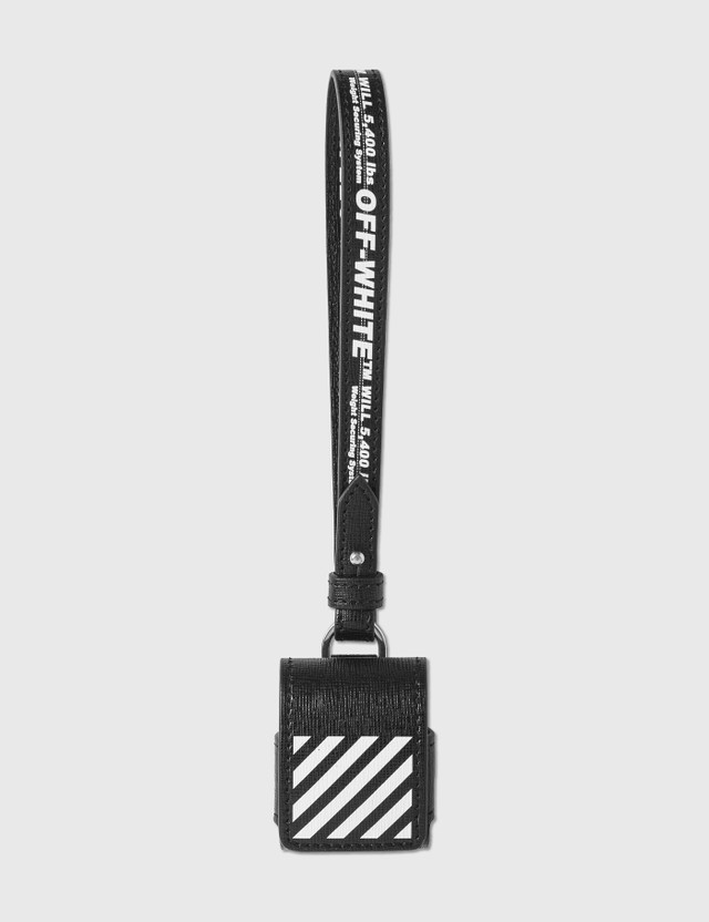 Off-White Diag Saffiano AirPods Case Black Unisex