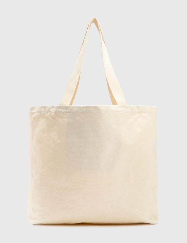 Stussy City Seal Canvas Tote Bag Natural Men