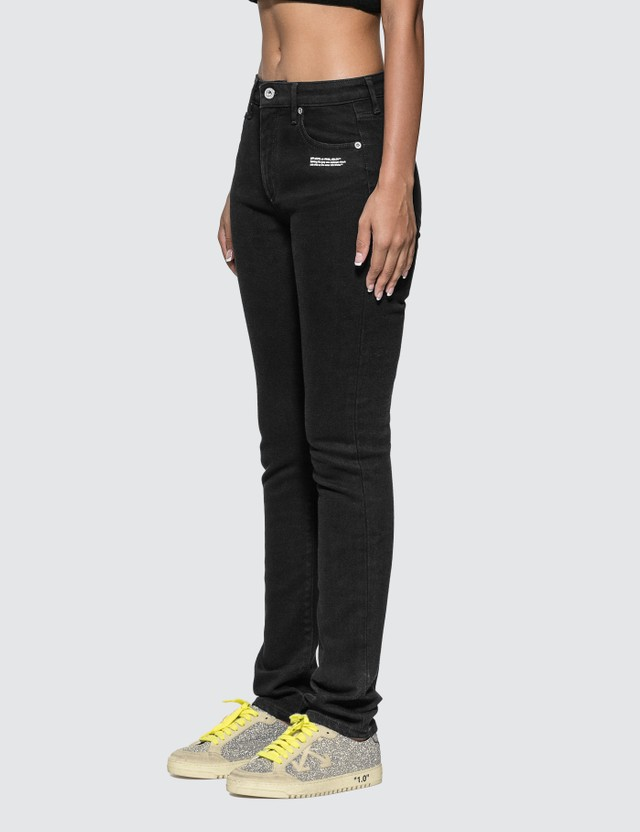 Off-White Skinny Fit Jeans With Twisted Scarf