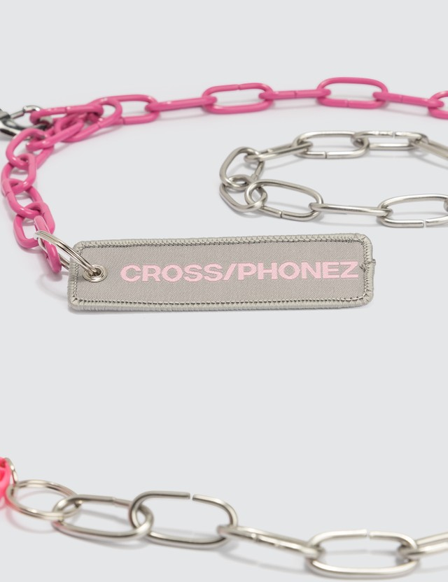 CROSS/PHONEZ Silver And Pink Chain iPhone Case