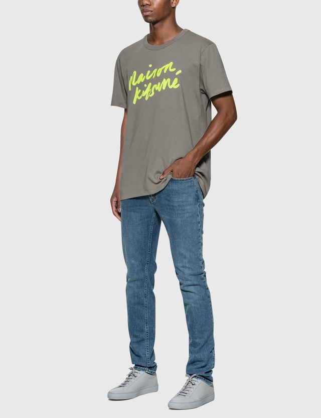 Maison Kitsune 핸드라이팅 티셔츠 그레이 Grey Men