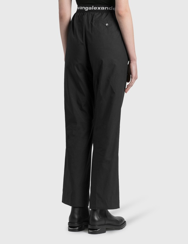 Alexander Wang.T Logo Elastic Pull-on Pants Black Women