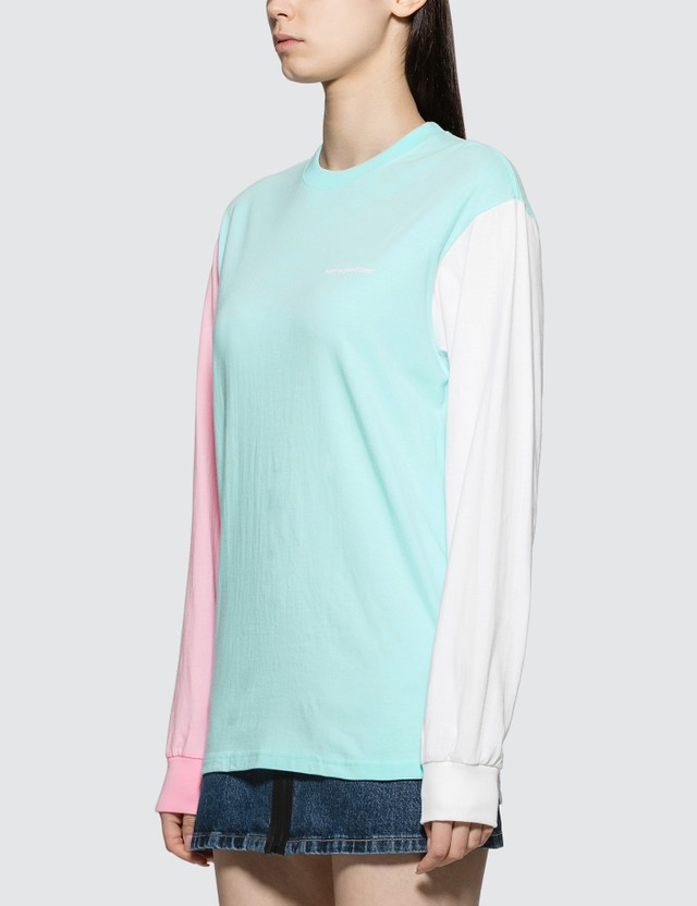 Have A Good Time Color Block Long Sleeve T-shirt