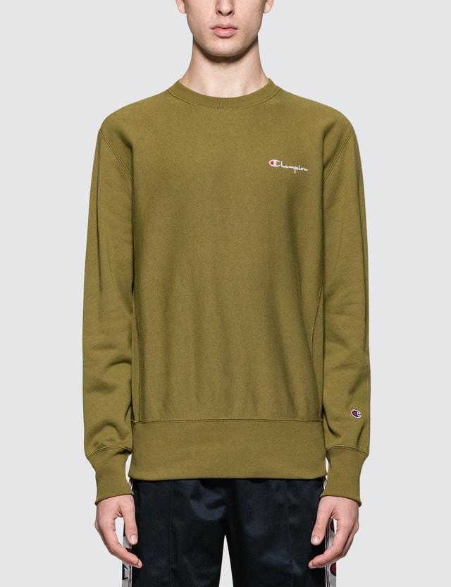 Champion Reverse Weave Back Script Logo Sweatshirt
