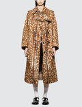 Burberry Exaggerated Cuff Deer Print Trench Coat Picutre