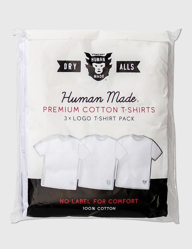 Human Made 3 Pack T-shirt White Men