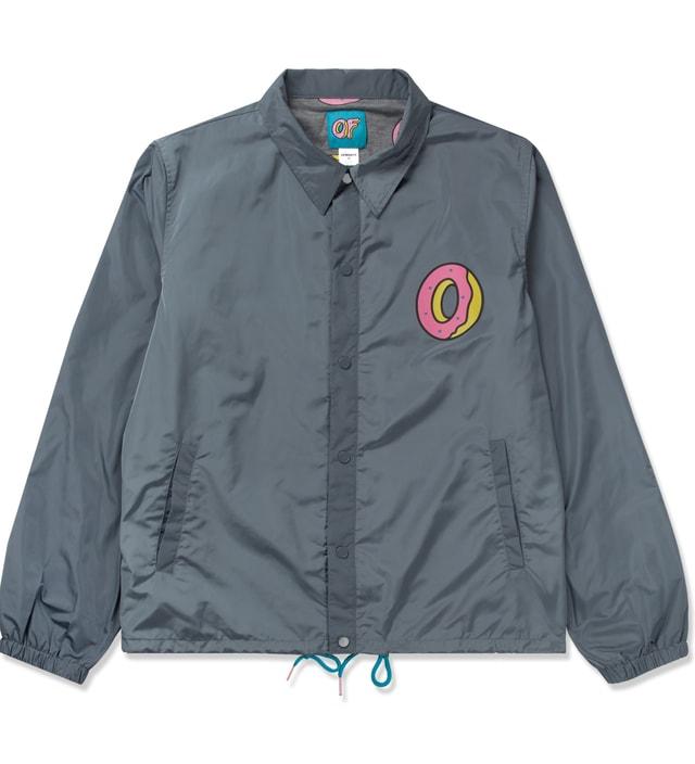 Odd Future Charcoal Single Donut Coach Jacket