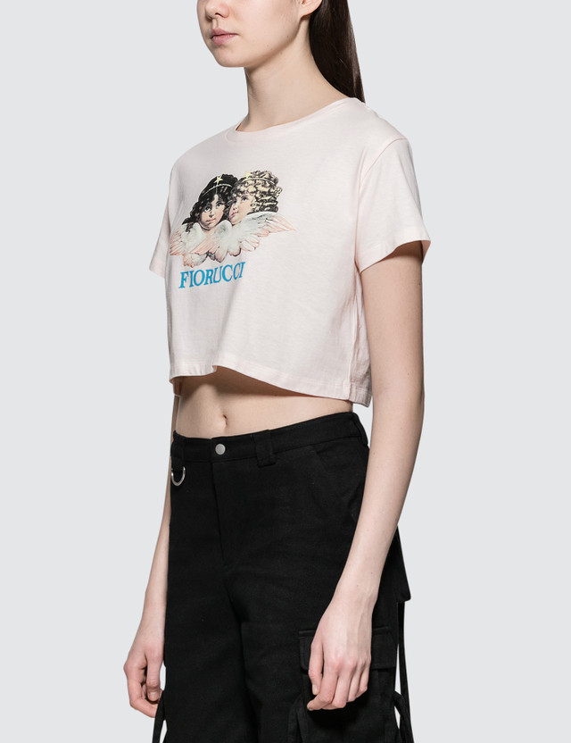 Fiorucci Vintage Angels Cropped Short Sleeve T-shirt