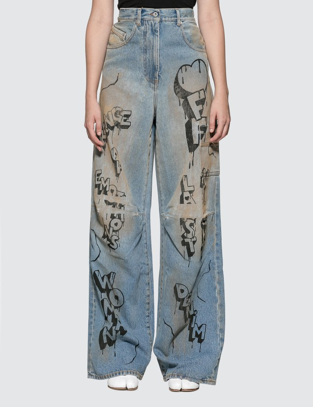 Off-White Graffiti Oversize Tomboy Jeans
