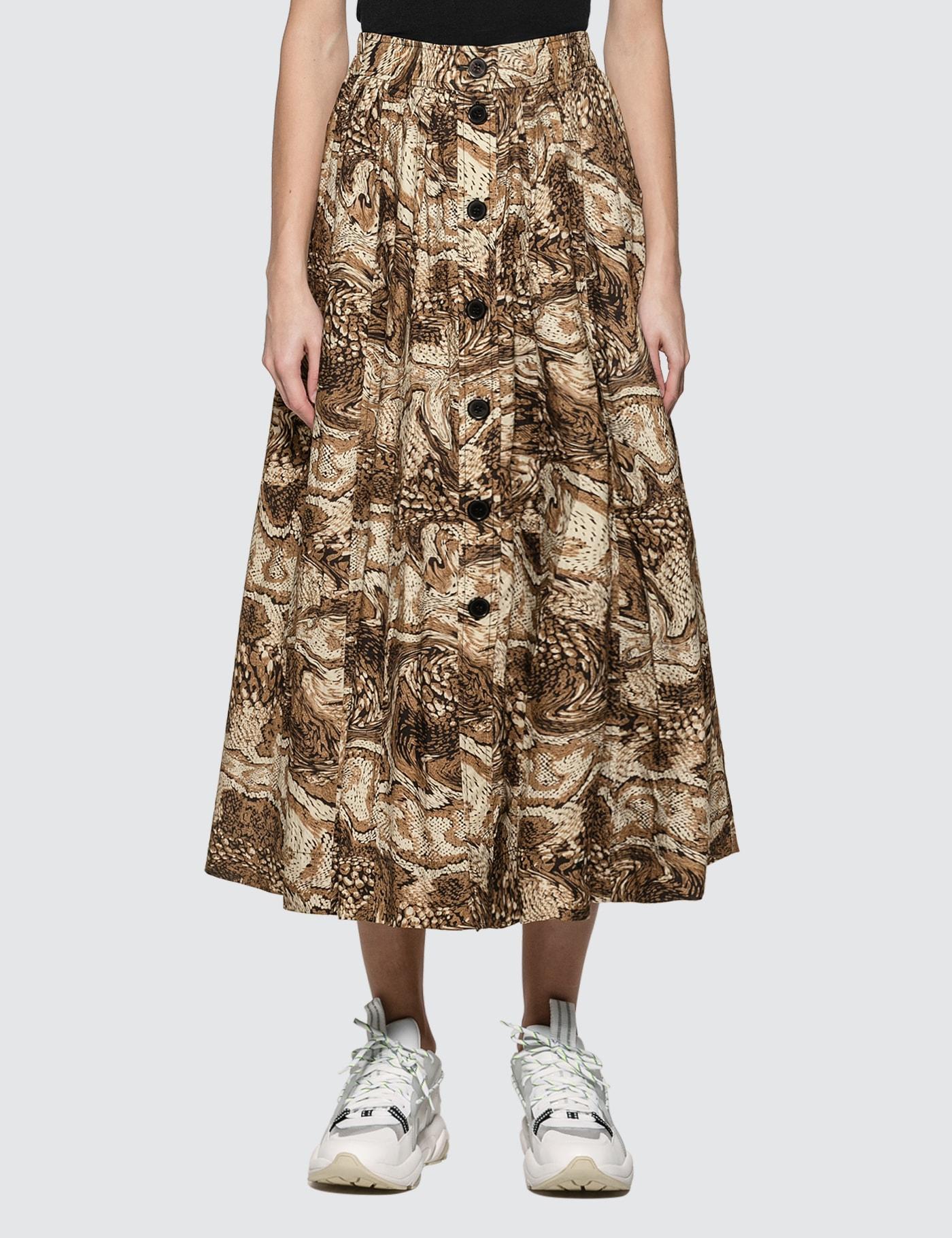 Printed Mid Length Skirt
