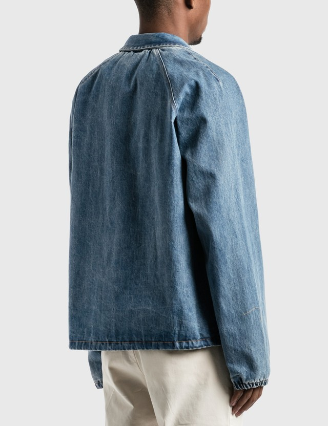 Victoria Denim Coach's Jacket Light Wash Indigo Men