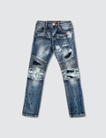 Haus of JR Clayton Patch Work Biker Denim Jeans Picutre