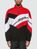 MSGM Half Zip Colorblock Sweatshirt 사진