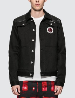 Alexander McQueen Badge Embroidered Denim Shirt