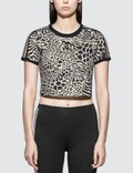Adidas Originals Leopard Print 3 Stripes T-shirt Picture