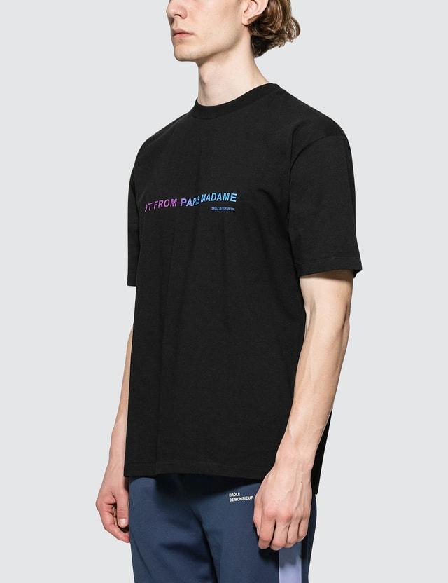 Drôle de Monsieur Shaded Slogan S/S T-Shirt