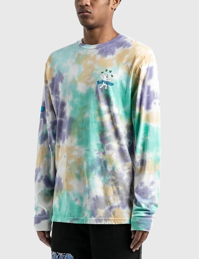 RIPNDIP 럭키 참 긴소매 티셔츠 Multi Tie Dye Wash Men