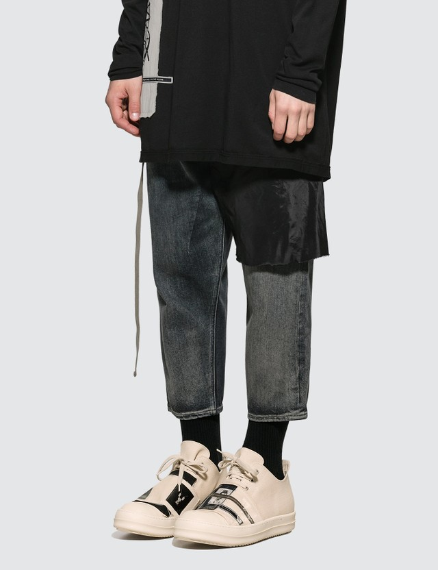 Rick Owens Drkshdw Combo Collapse Cropped Jeans