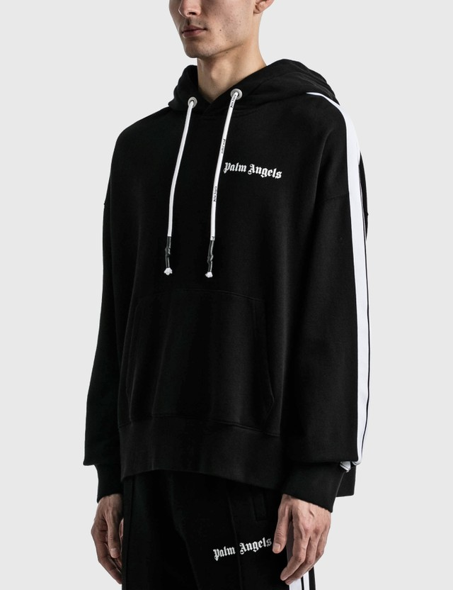 Palm Angels Fleece Track Hoodie Black Men