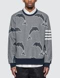 Thom Browne Half Drop Dolphin Sweatshirt Picutre
