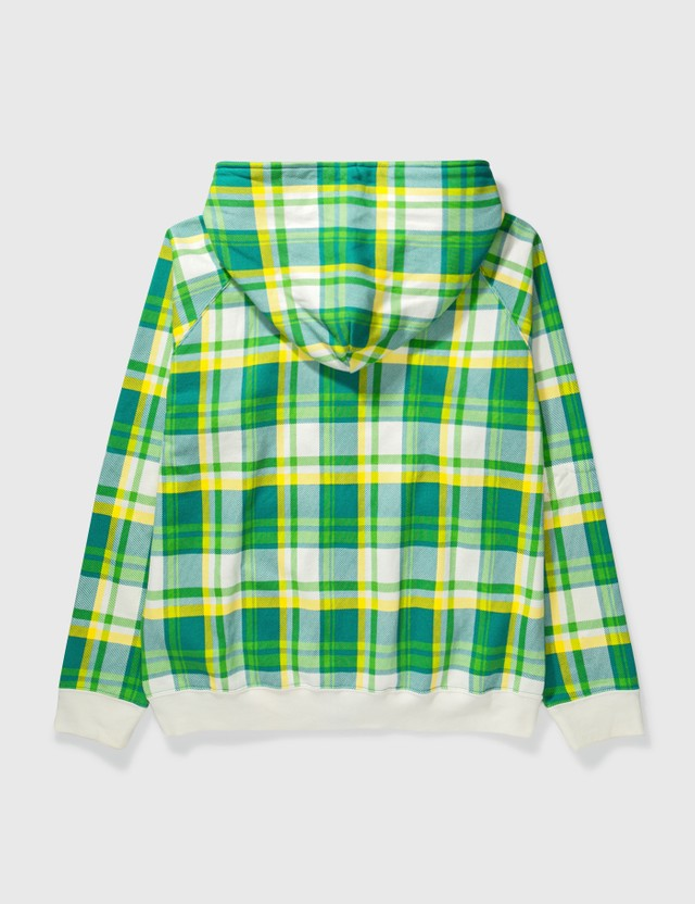 BAPE Bape Green Check Zipup Hoodie Green Archives