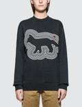 Maison Kitsune Par Rec Sweatshirt Radar Fox Picture