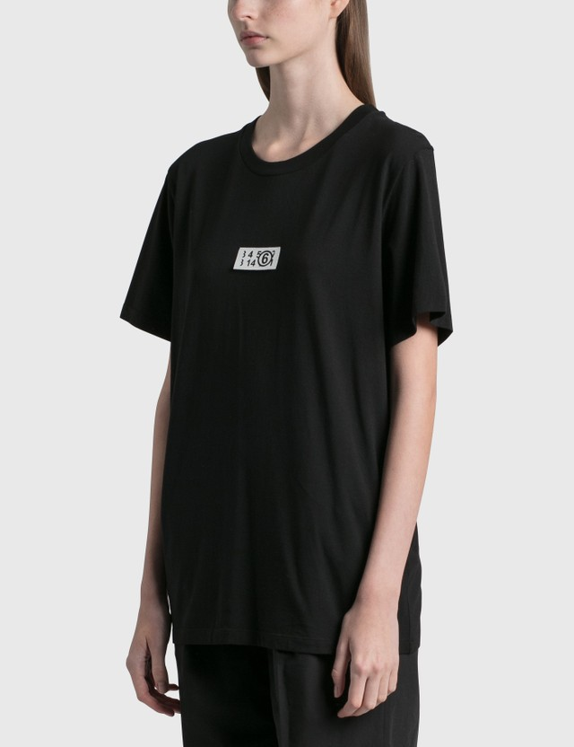 MM6 Maison Margiela Logo Patch T-shirt Black Women