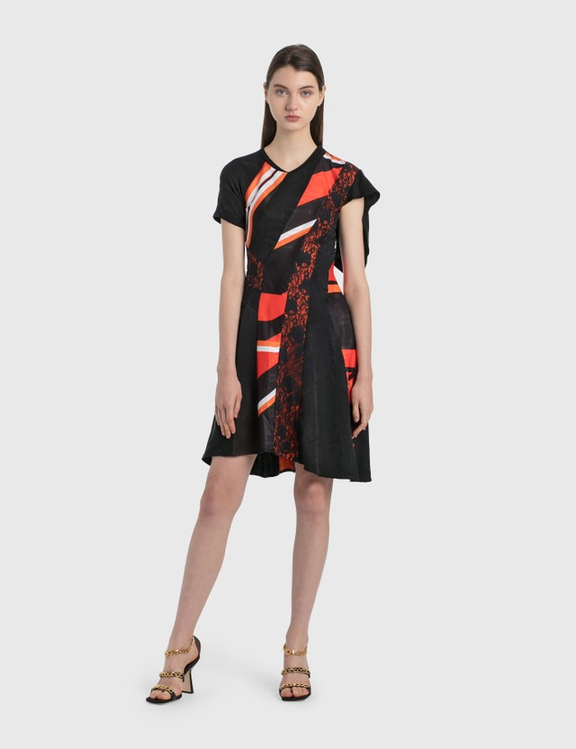 KOCHÉ Jacquard Jersey Dress Black Jacquard Women