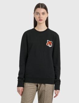 Maison Kitsune Velvet Fox Head Patch Classic Sweatshirt