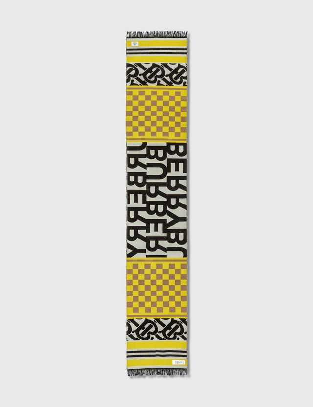 Burberry Burberry Text Checkerboard Football Scarf