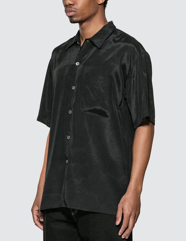 Alexander McQueen Dragon Embroidery Short Sleeve Shirt