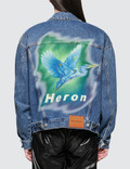 Heron Preston Airbrush Heron Denim Jacket Picture